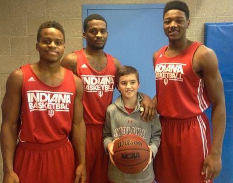 Adam Greenlee, Jr. and IU players